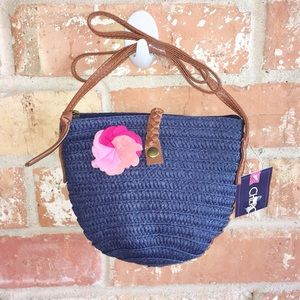 Little Girls Straw Crossbody Bag NWT